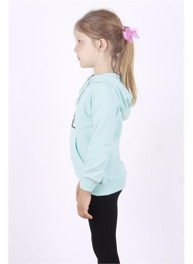 Toontoy Kids Toontoy Kız Çocuk Kedi Baskılı Sweatshirt Renkli